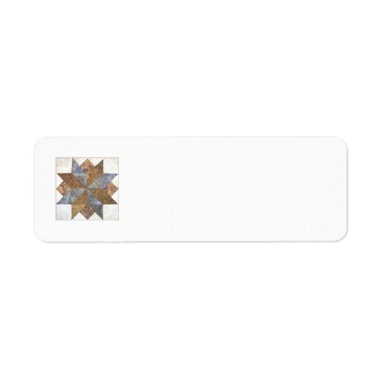 Quilt block return address label #9