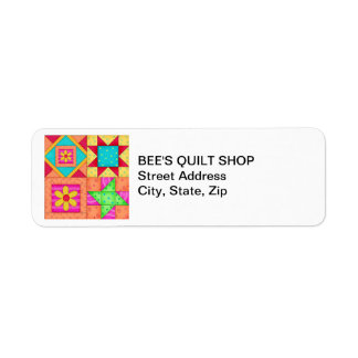 Quilt Blocks Return Address Label