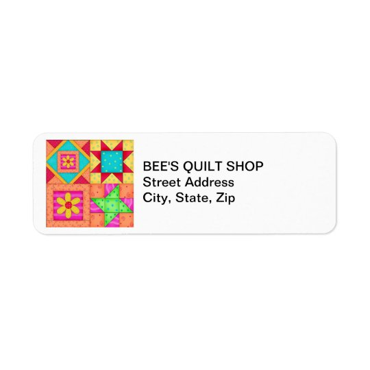 Quilt Blocks Return Address Label