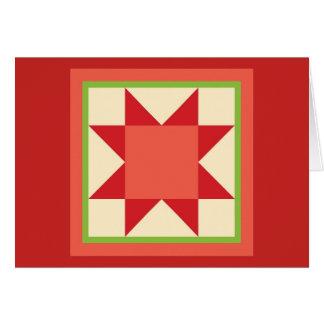 Quilt Christmas Card - Sawtooth Star