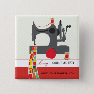 Quilt Craft Artist Name tag 2 Inch Square Button