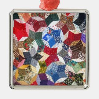 Quilt Fabric Metal Ornament