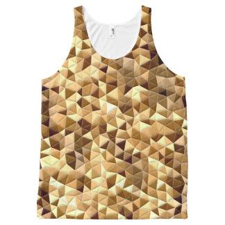 Quilt Illusion Geometric Triangle Tank Top