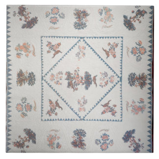 Quilt in 'Broderie Perse', c.1800 (applied, printe Tile