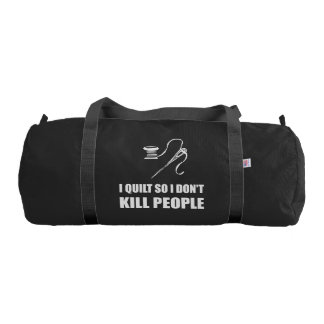 Quilt Kill People Gym Bag