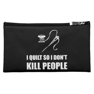 Quilt Kill People Makeup Bags