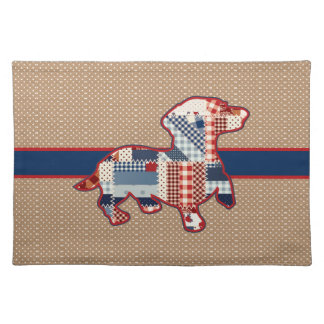 "Quilt Look Dachshund Placemats  20"" x 14"""