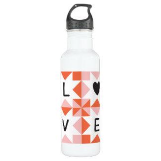 Quilt Love Water Bottle