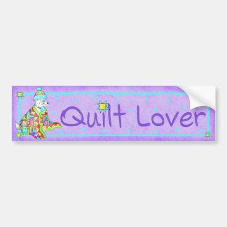 Quilt Lover Dog Bumper Sticker
