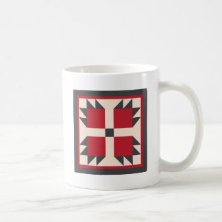 Quilt Mug - Bearcat Quilt Block (red/black)