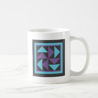 Quilt Mug - Flying Dutchman (black/purple/blue)