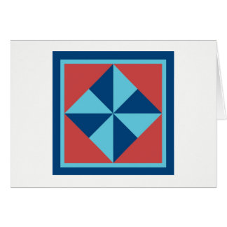 Quilt Note Cards - Pinwheel (navy/red)
