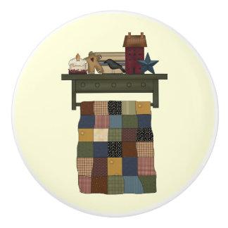 Quilt on Rack Drawer knob