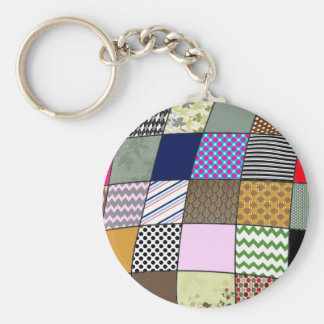 Quilt Pattern Key Chains
