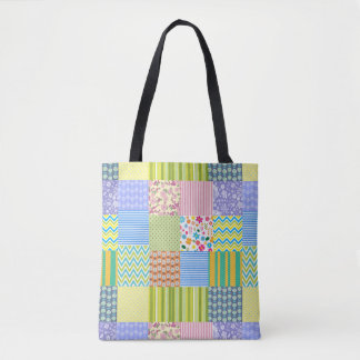 Quilt Pattern Tote Bag