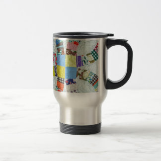 Quilt pattern travel mug