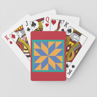 Quilt Playing Cards - Hunter's Star