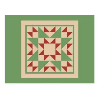 Quilt Postcard - Odd Fellow Block