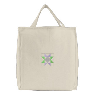 Quilt Square #10 Embroidered Bags