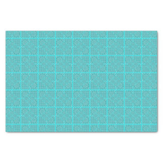 Quilt Square Design in Aqua Tones Tissue Paper