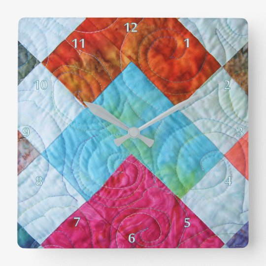 Quilt Square Design Wallclock