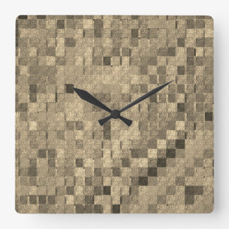 Quilt Squares by Julie Everhart Square Wall Clock
