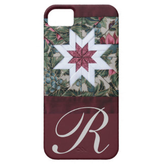 Quilt star maroon iPhone 5 cases