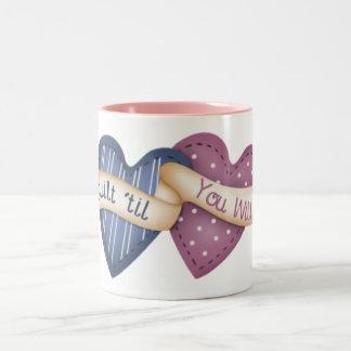 Quilt ´til you Wilt Two-Tone Coffee Mug