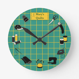 Quilt Time Customize the Label Wall Clock
