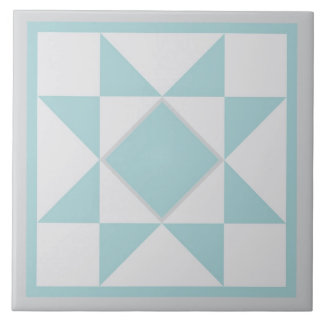 Quilt Trivet – Sawtooth Star (blue/grey)