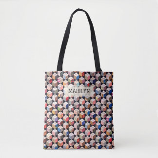 Quilt | Tumbling Blocks Antique Patchwork-Look Tote Bag