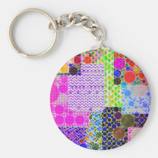 Quilted Abstract Pattern Keychain