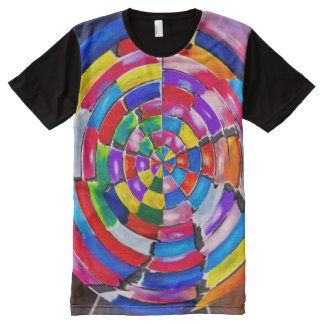 Quilted All-Over-Print T-Shirt