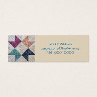 Quilted Batik Business Card
