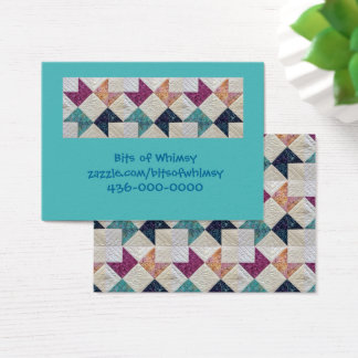 Quilted Batik Business Cards