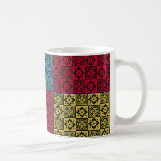 Quilted Block Print Mug