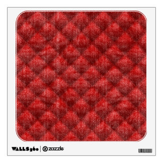 Quilted Bright Red Velvety Pattern Wall Sticker