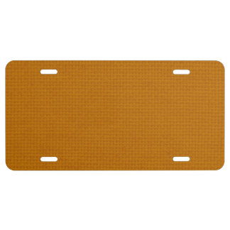 Quilted Burnt Orange License Plate