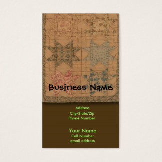 Quilted Business Card