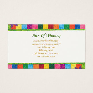 Quilted Business Card! Business Card