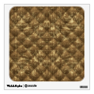 Quilted Cocoa Brown Velvety Textured Pattern Wall Decal