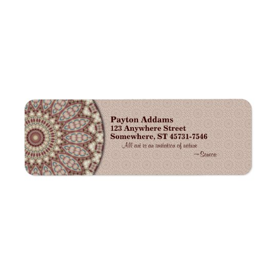 Quilted Comfort Mandala - Return Address Label