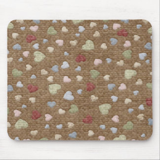 Quilted Hearts Mouse Pad