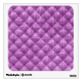 Quilted Light Purple Faux Velvet Pattern Wall Decal
