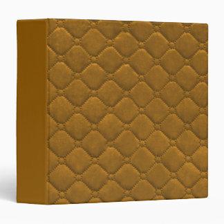 Quilted Look Gold Vinyl Binders
