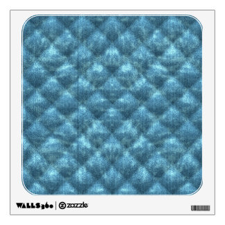 Quilted Ocean Blue Velvety Pattern Wall Decal