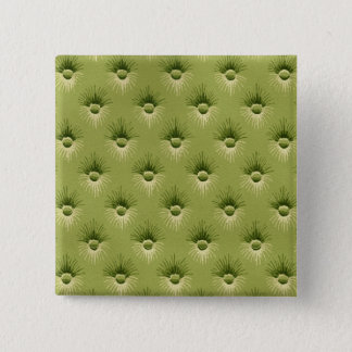 Quilted Olive Vintage Wallpaper 2 Inch Square Button