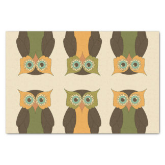 Quilted Owl Tissue Paper