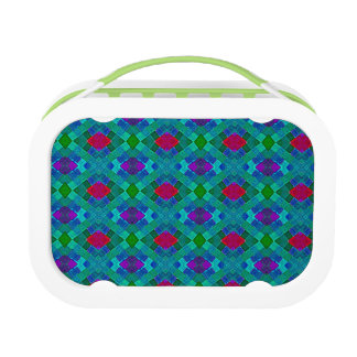 Quilted Pattern Bright Design Lunch box