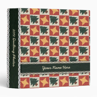 Quilted Pine Trees and Stars Binder